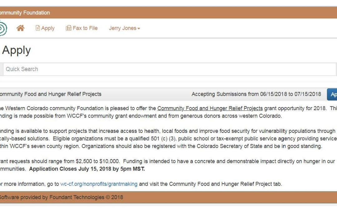 Grant Funding for Community Food and Hunger Relief Projects