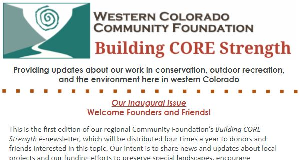 CORE E-News First Issue